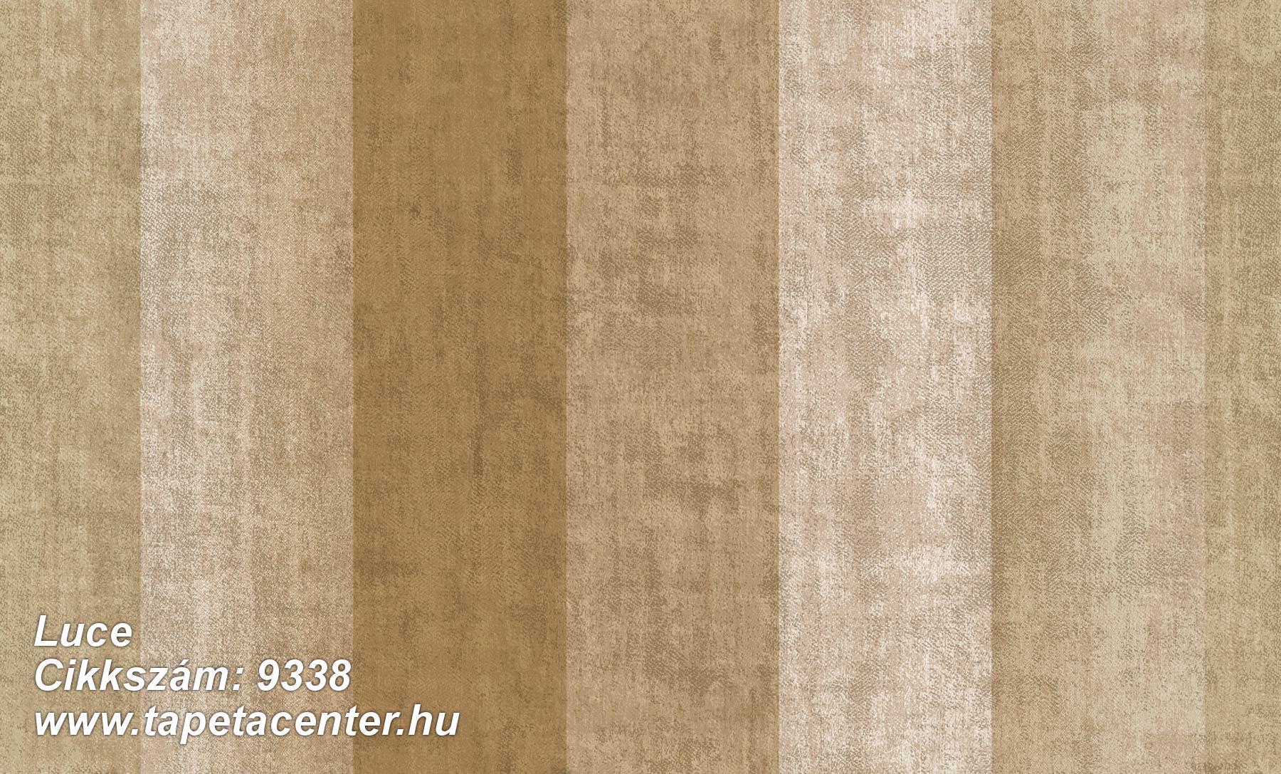 Csíkos,textil hatású,arany,barna,súrolható,vlies tapéta