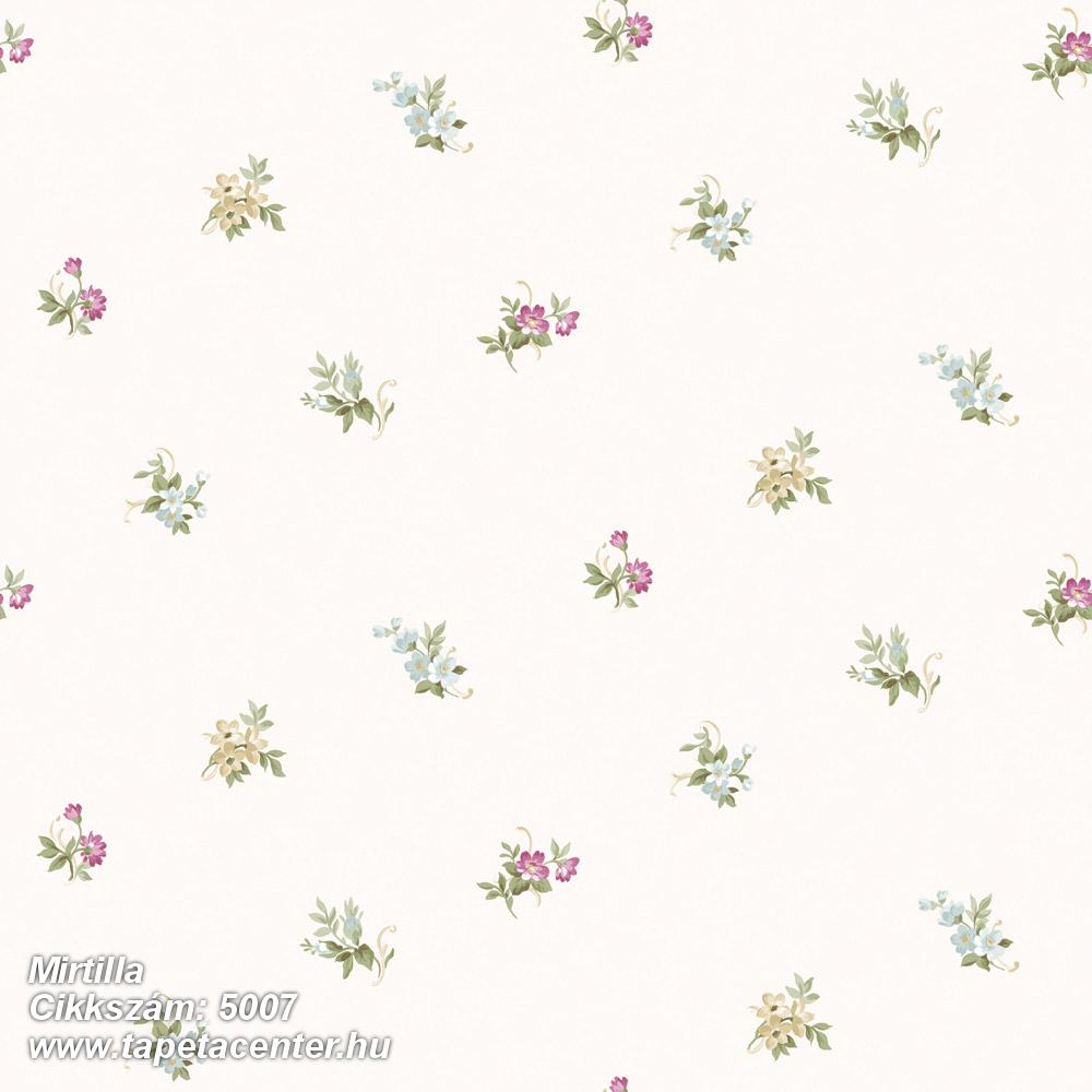 Barokk-klasszikus,virágmintás,bézs-drapp,fehér,pink-rózsaszín,szürke,súrolható,vlies tapéta