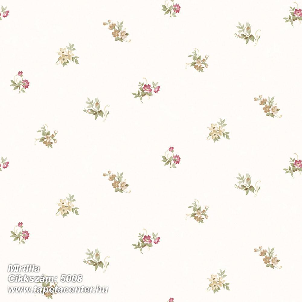 Barokk-klasszikus,virágmintás,bézs-drapp,fehér,piros-bordó,zöld,súrolható,vlies tapéta