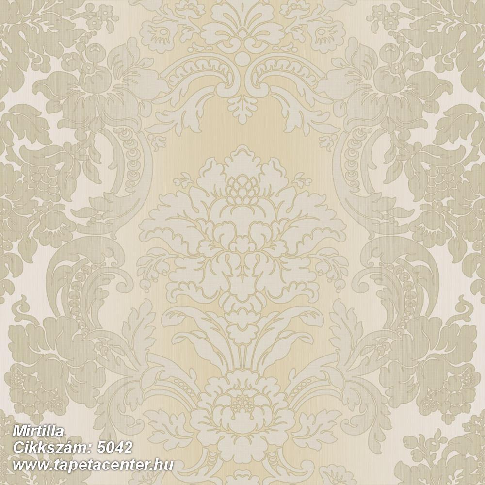 Barokk-klasszikus,bézs-drapp,szürke,súrolható,vlies tapéta