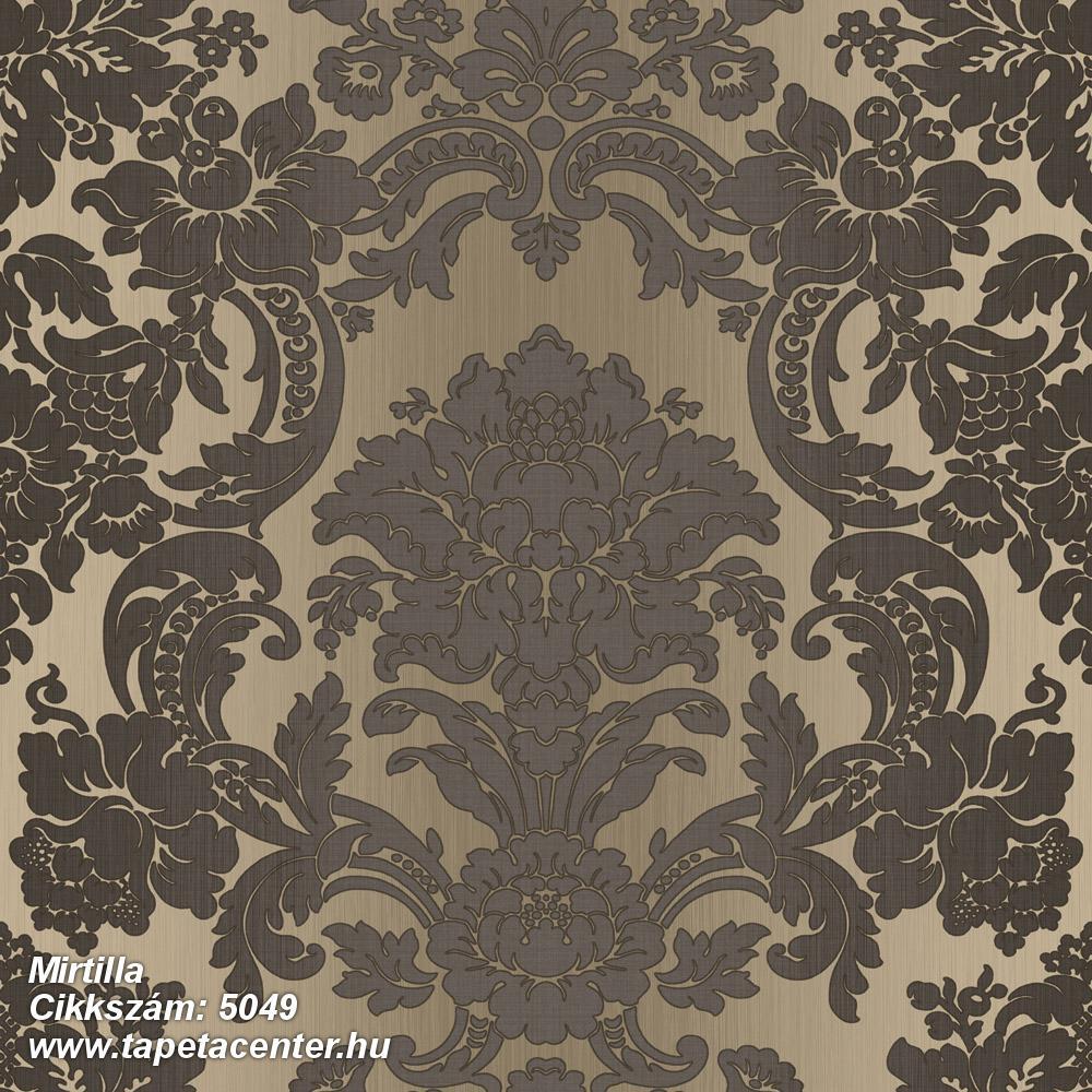 Barokk-klasszikus,barna,bézs-drapp,súrolható,vlies tapéta