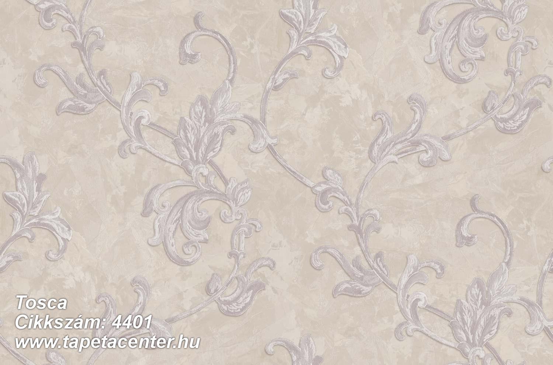 Barokk-klasszikus,textil hatású,virágmintás,bézs-drapp,szürke,súrolható,vlies tapéta