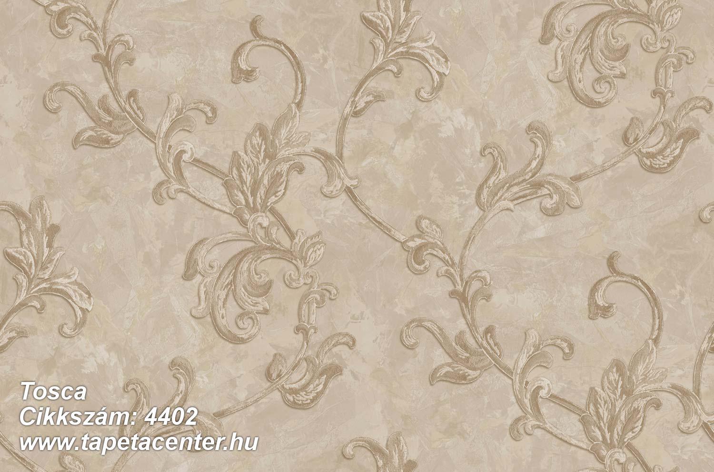 Barokk-klasszikus,textil hatású,virágmintás,arany,bézs-drapp,súrolható,vlies tapéta