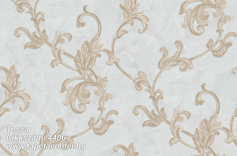 Barokk-klasszikus,textil hatású,virágmintás,arany,barna,bézs-drapp,kék,súrolható,vlies tapéta
