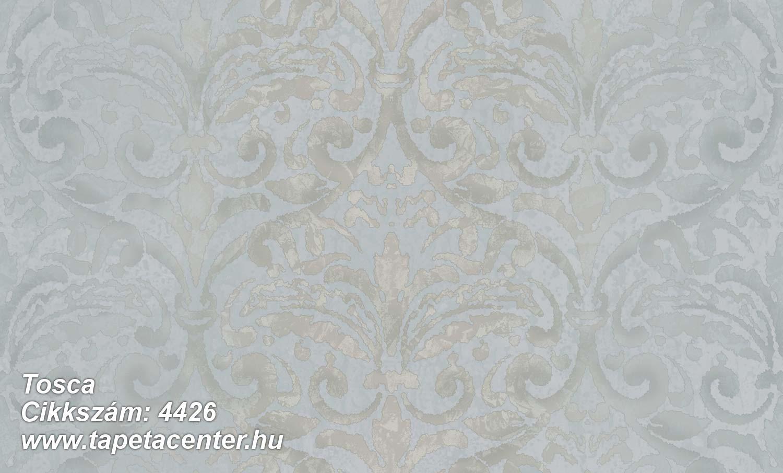 Barokk-klasszikus,textil hatású,ezüst,kék,szürke,súrolható,vlies tapéta