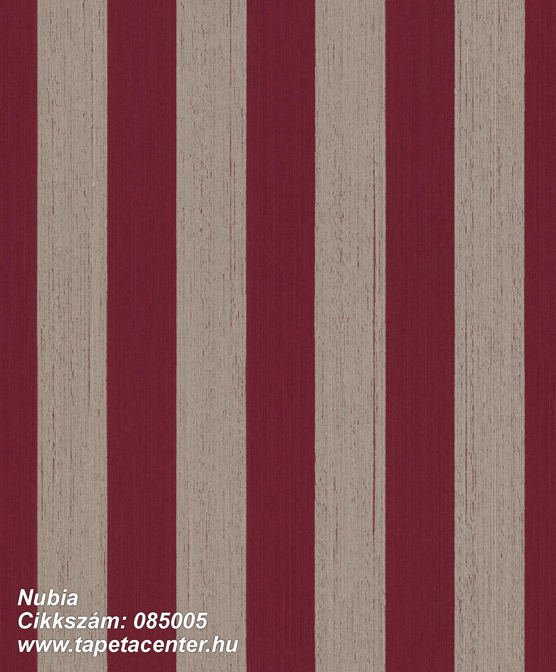 Csíkos,dekor,valódi textil,bézs-drapp,piros-bordó,illesztés mentes,vlies tapéta