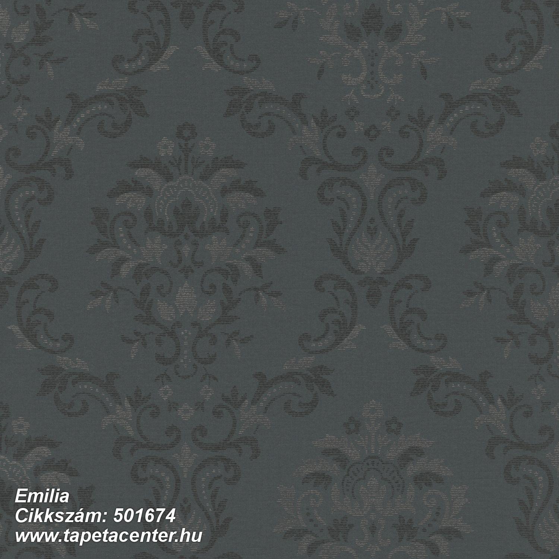 Barokk-klasszikus,barna,fekete,lemosható,vlies tapéta