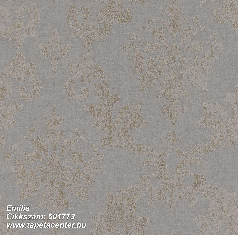 Barokk-klasszikus,metál-fényes,barna,szürke,lemosható,vlies tapéta