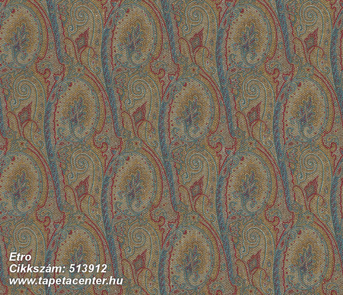 Absztrakt,különleges felületű,különleges motívumos,rajzolt,textilmintás,virágmintás,barna,kék,piros-bordó,vajszín,zöld,lemosható,Vlies tapéta