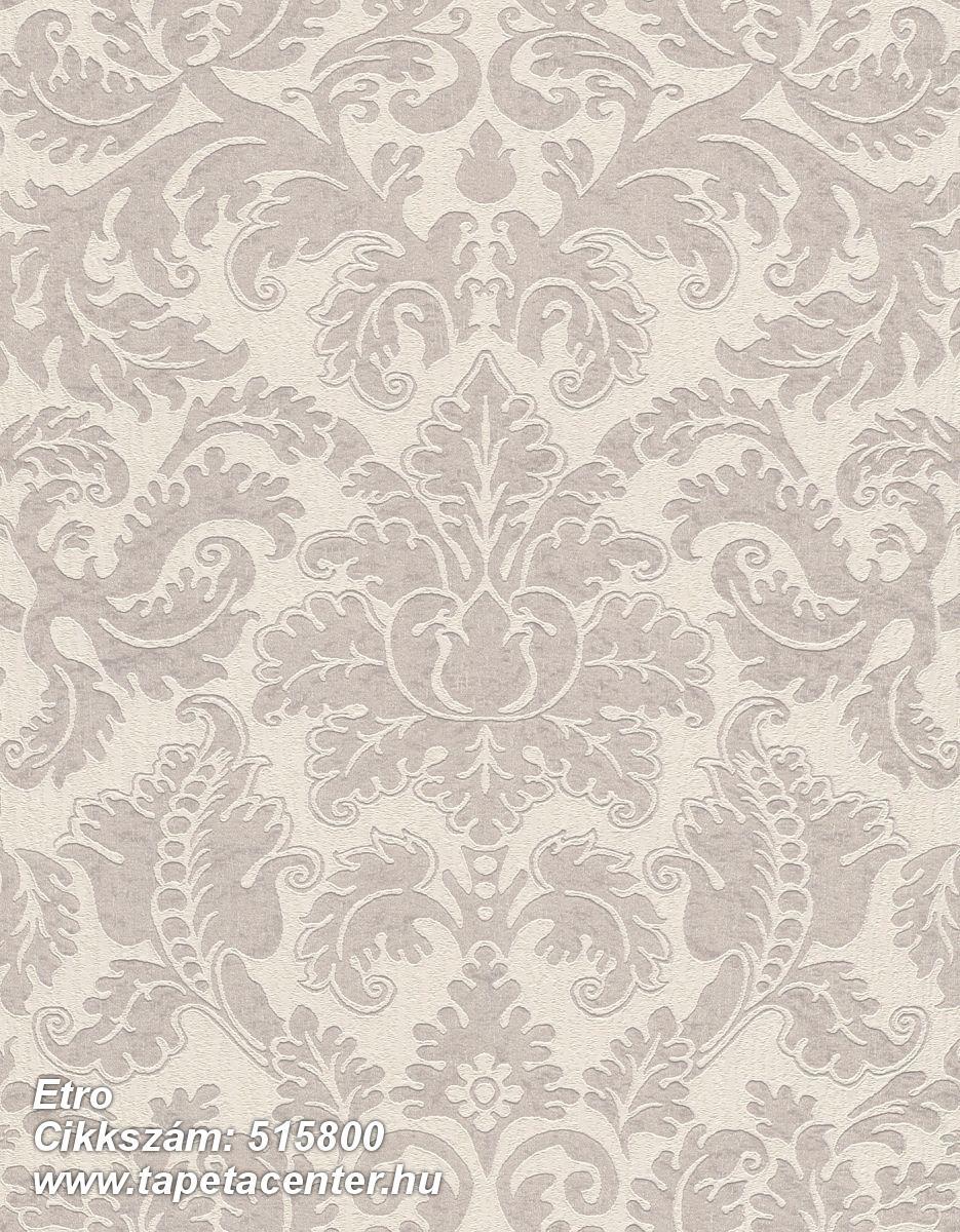 Barokk-klasszikus,különleges felületű,rajzolt,textil hatású,virágmintás,barna,bézs-drapp,lemosható,Vlies tapéta