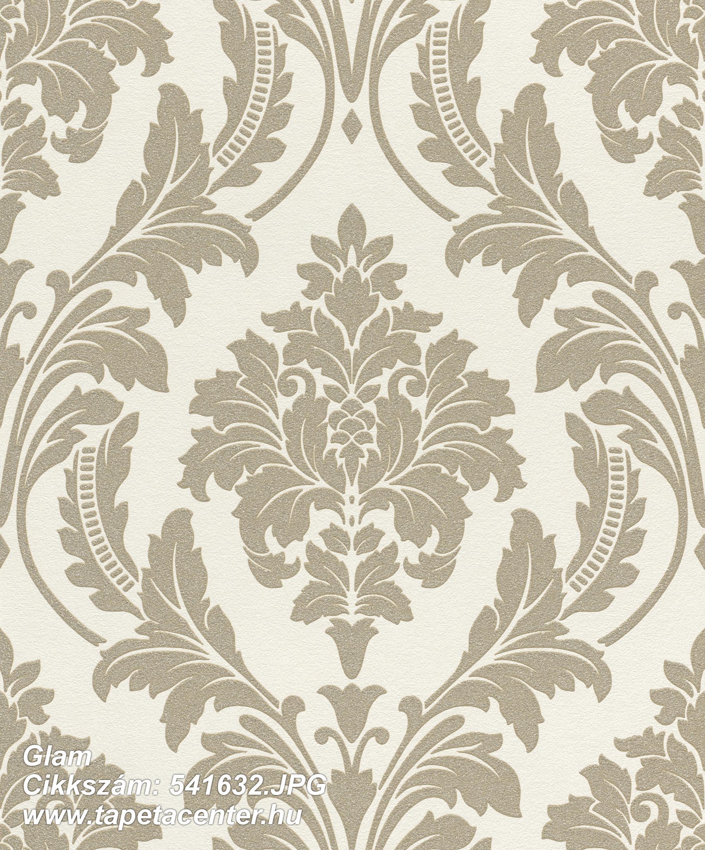 Barokk-klasszikus,csillámos,arany,fehér,lemosható,vlies tapéta