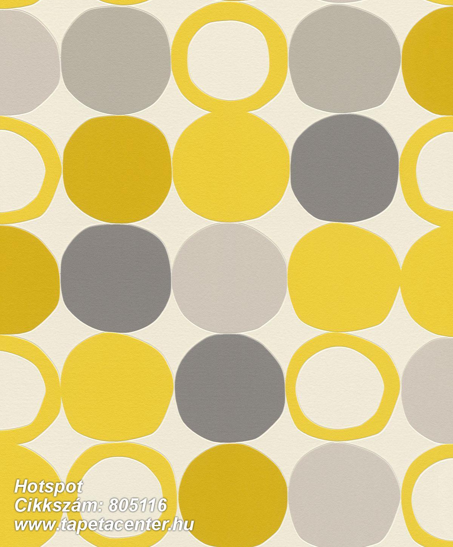 Geometriai mintás,különleges felületű,különleges motívumos,retro,sárga,szürke,lemosható,vlies tapéta