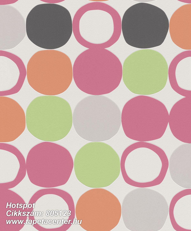 Geometriai mintás,különleges felületű,különleges motívumos,retro,narancs-terrakotta,pink-rózsaszín,szürke,zöld,lemosható,vlies tapéta