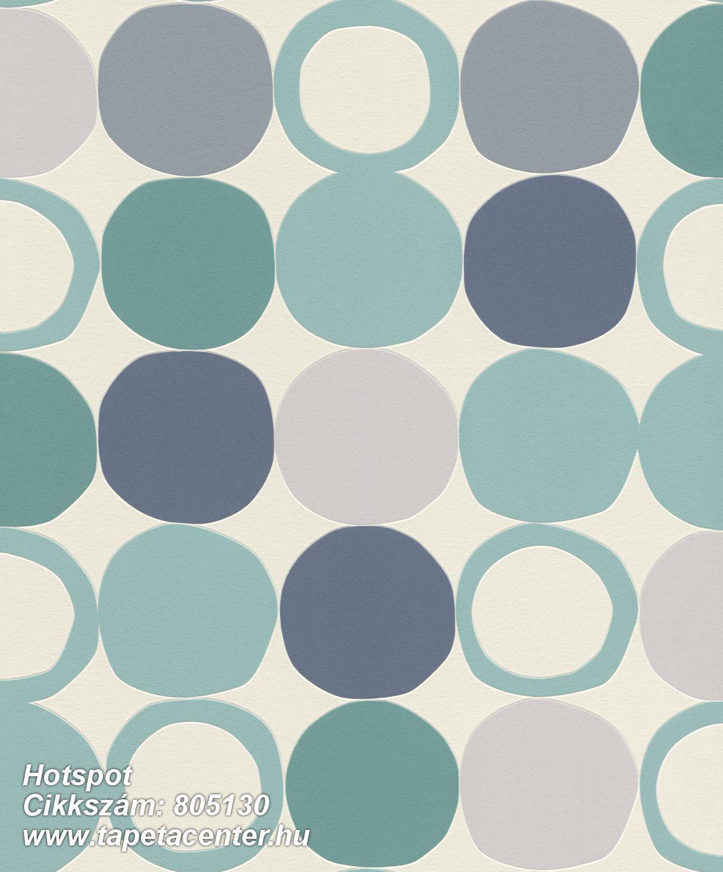 Geometriai mintás,különleges felületű,különleges motívumos,retro,fehér,kék,szürke,türkiz,zöld,lemosható,vlies tapéta