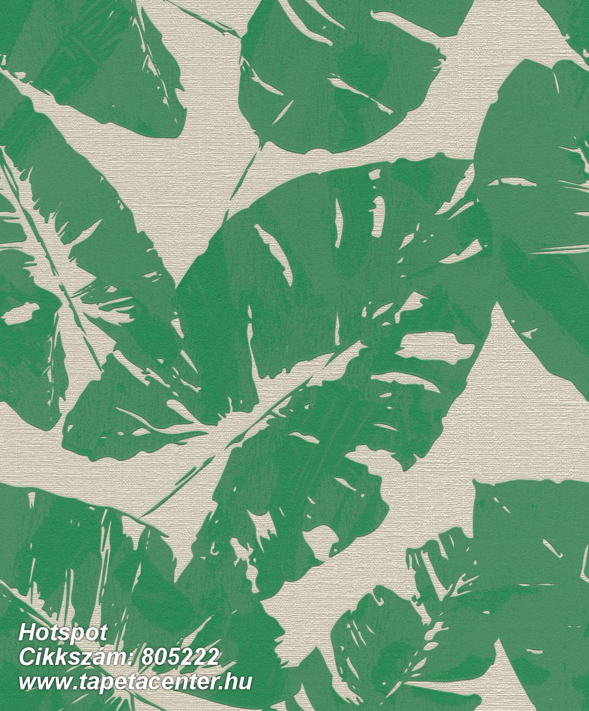 Különleges felületű,különleges motívumos,retro,természeti mintás,bézs-drapp,zöld,lemosható,vlies tapéta