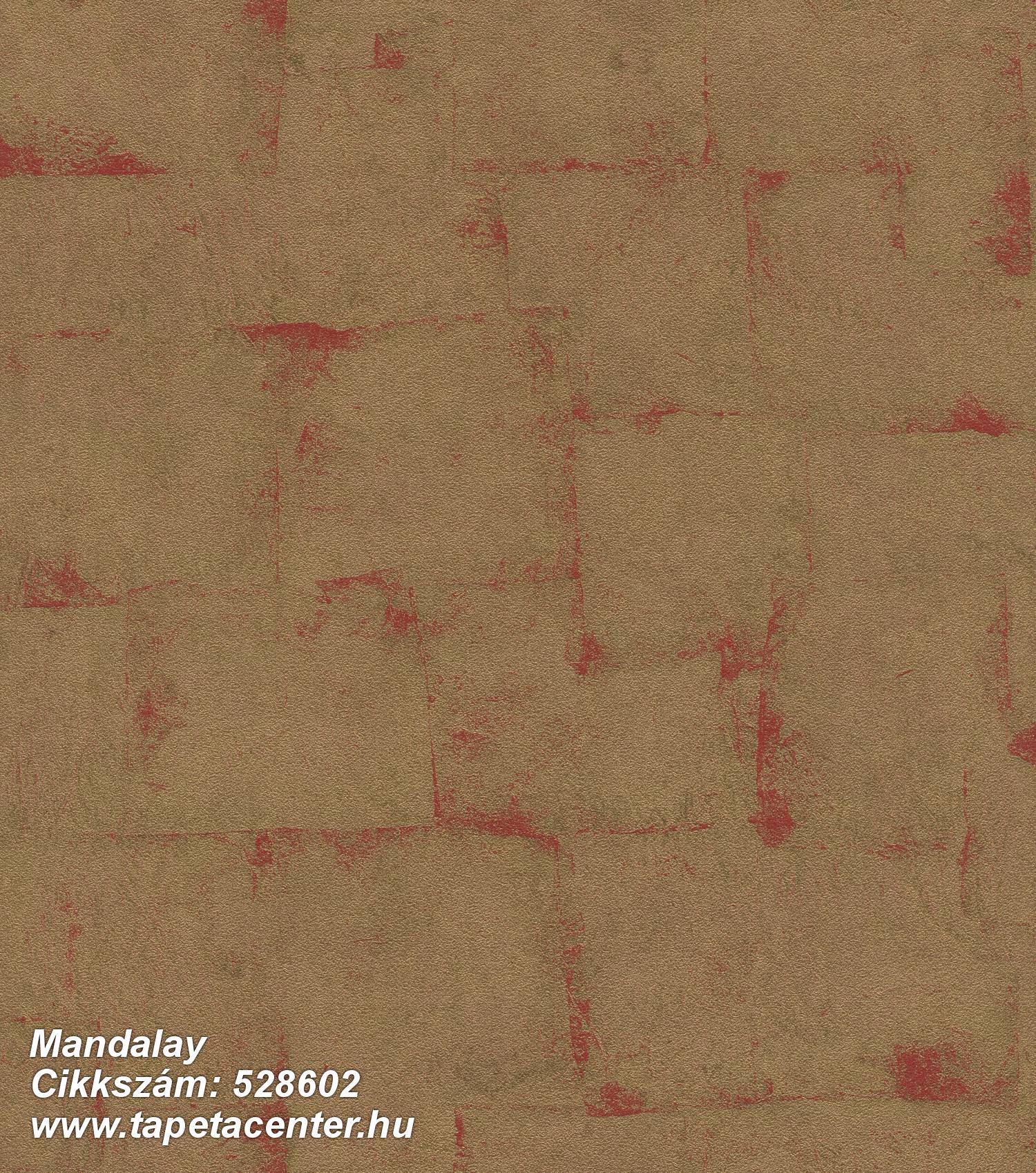 Absztrakt,különleges felületű,metál-fényes,arany,piros-bordó,lemosható,vlies tapéta