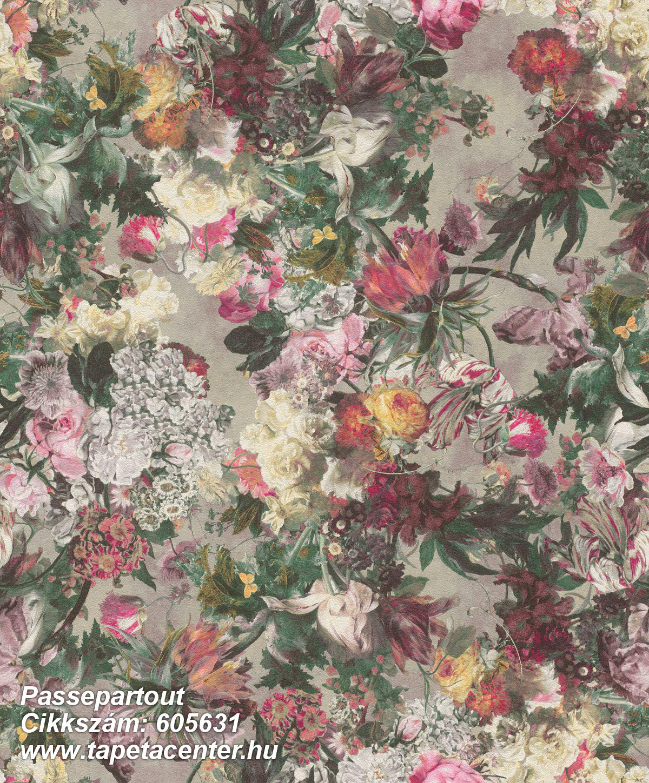 Különleges felületű,természeti mintás,virágmintás,fehér,lila,narancs-terrakotta,pink-rózsaszín,piros-bordó,szürke,vajszín,zöld,lemosható,vlies tapéta