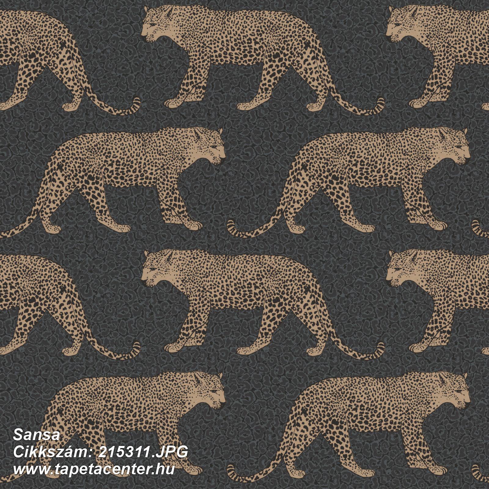 állatok,arany,fekete,gyengén mosható,papír tapéta
