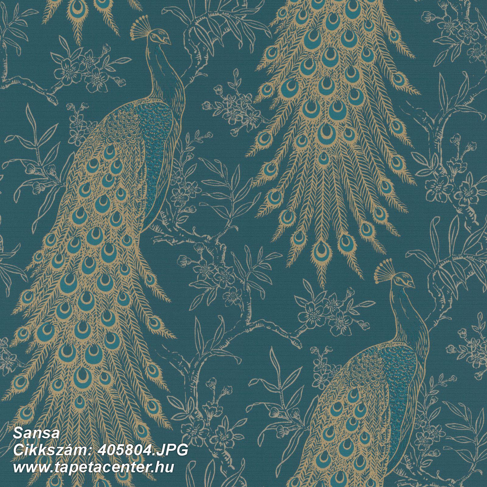 állatok,természeti mintás,arany,türkiz,zöld,lemosható,vlies tapéta