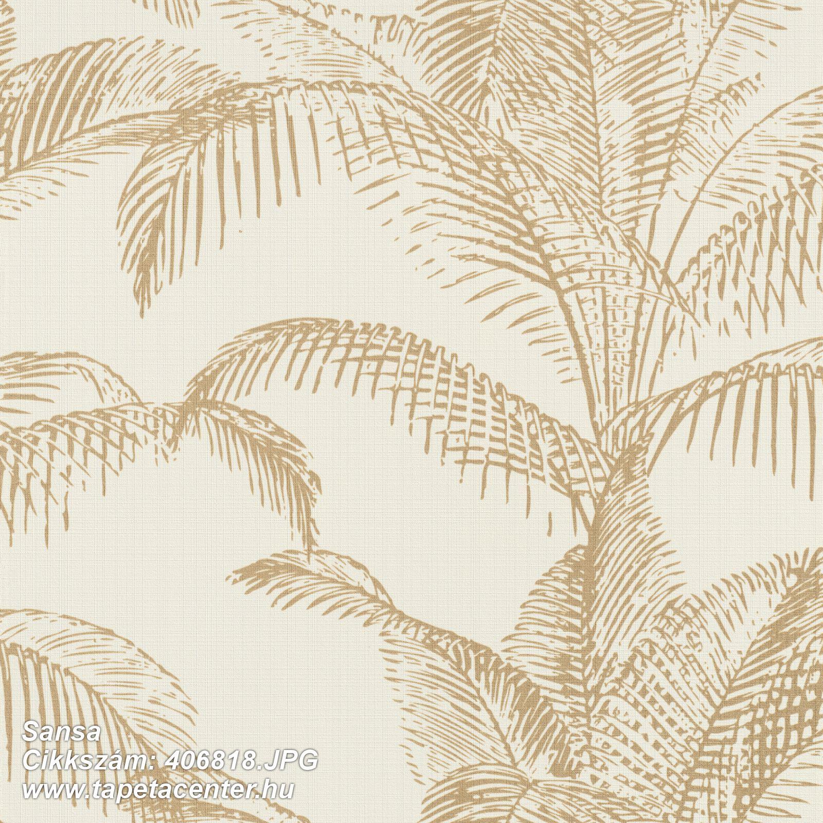 Természeti mintás,arany,fehér,lemosható,vlies tapéta