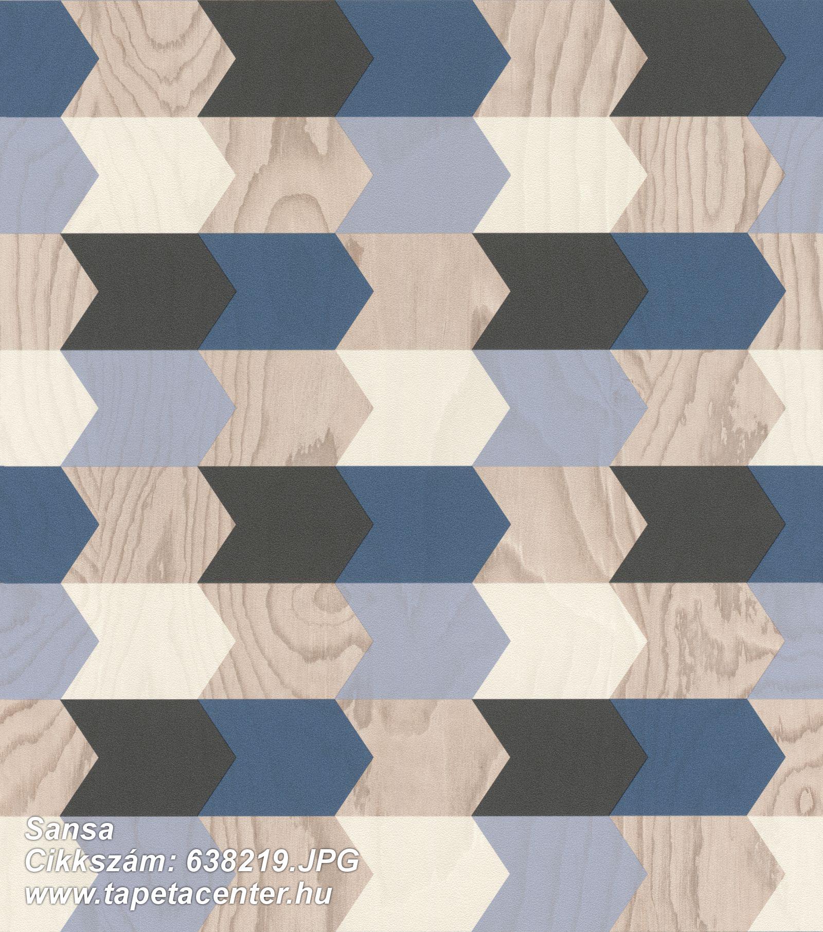 3d hatású,fa hatású-fa mintás,geometriai mintás,bézs-drapp,kék,szürke,lemosható,vlies tapéta