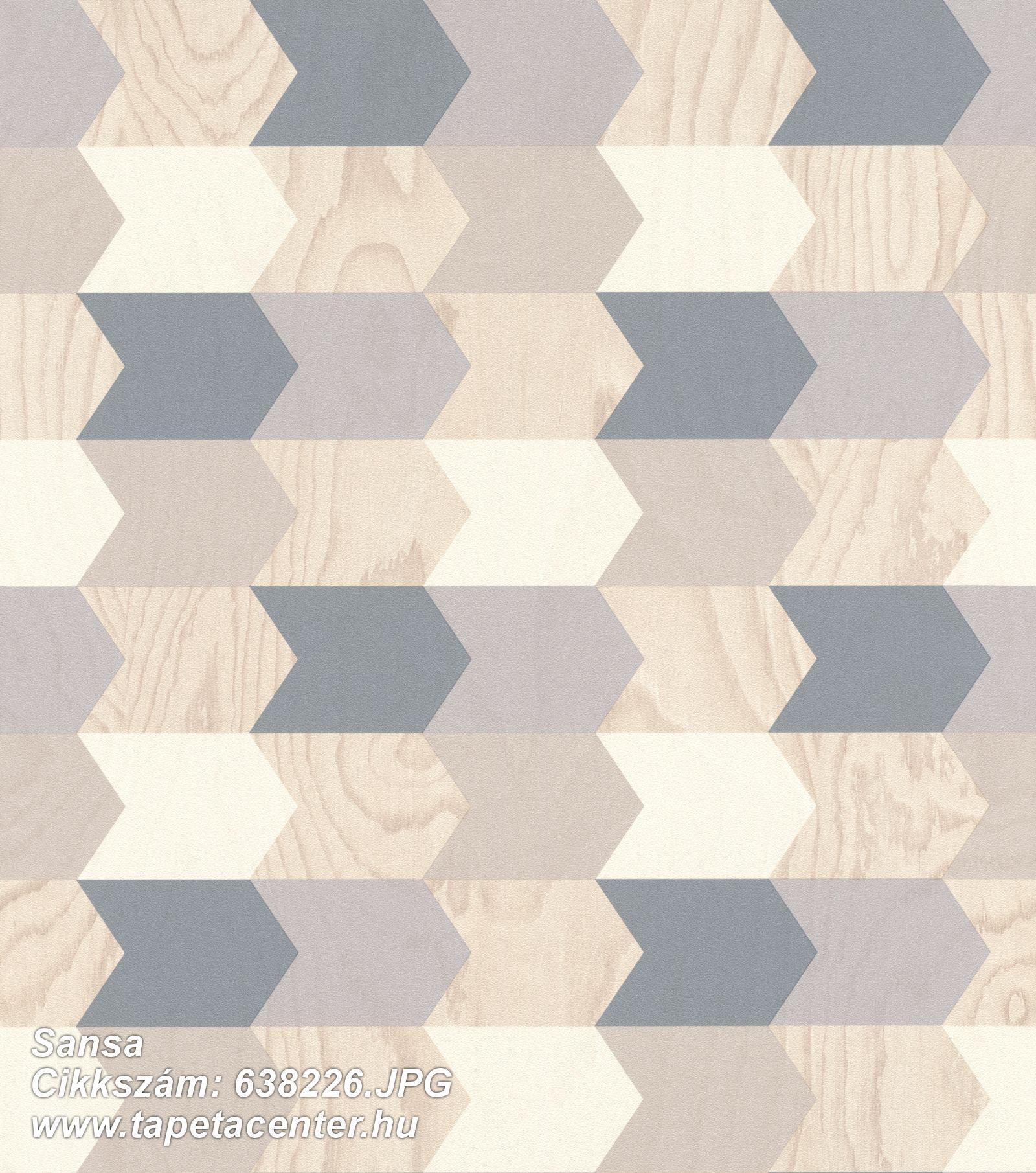 3d hatású,fa hatású-fa mintás,geometriai mintás,bézs-drapp,fehér,kék,szürke,lemosható,vlies tapéta