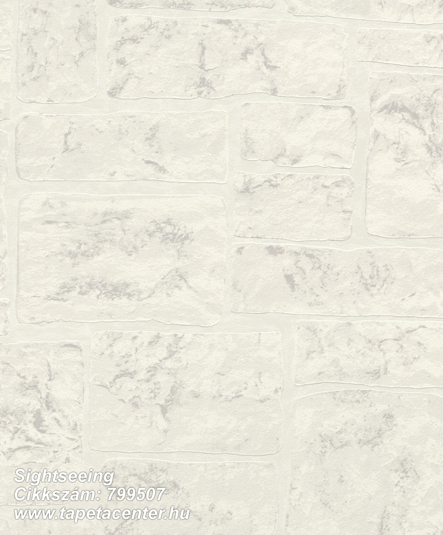 Kőhatású-kőmintás,fehér,szürke,lemosható,vlies tapéta