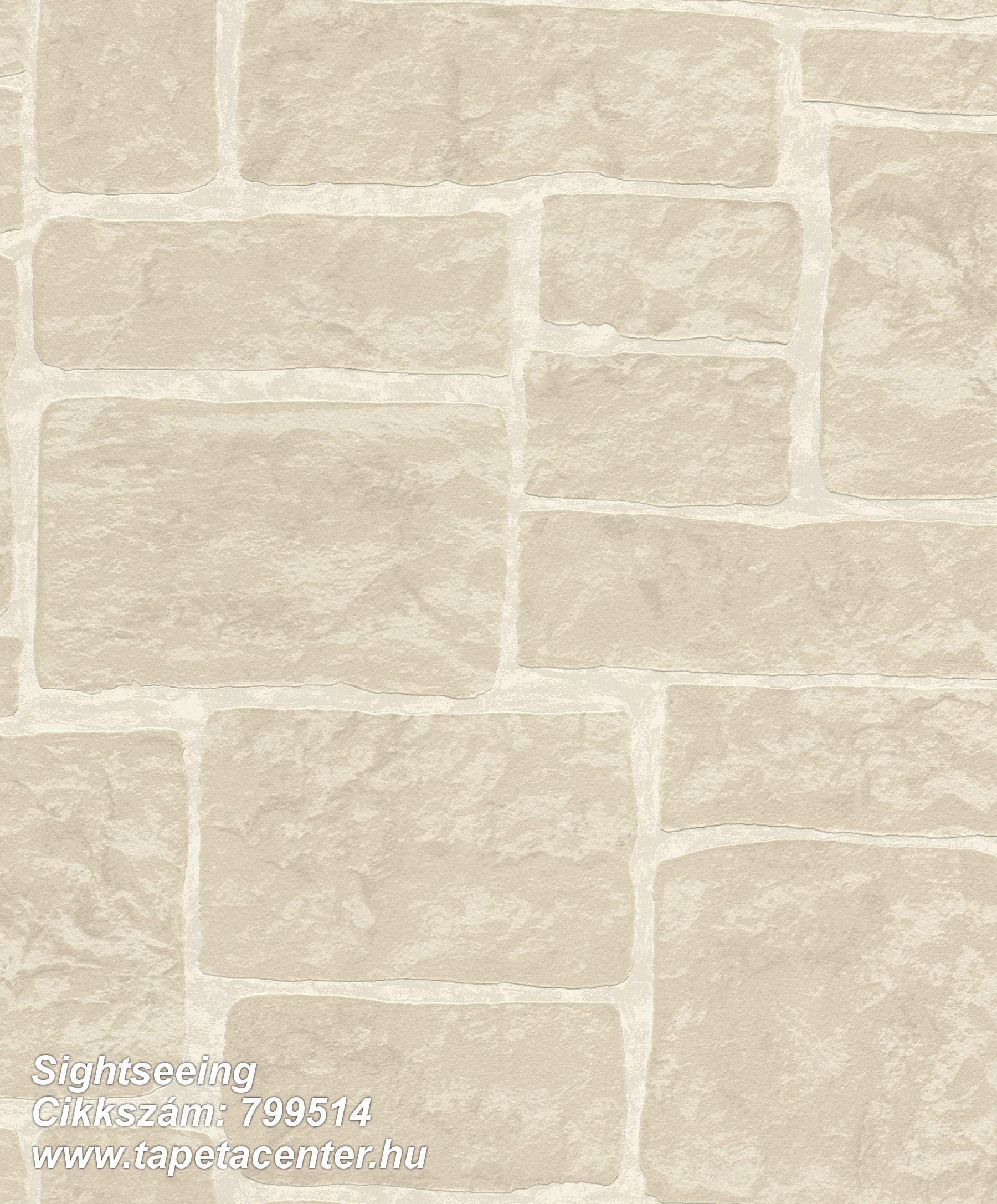 Kőhatású-kőmintás,bézs-drapp,lemosható,vlies tapéta