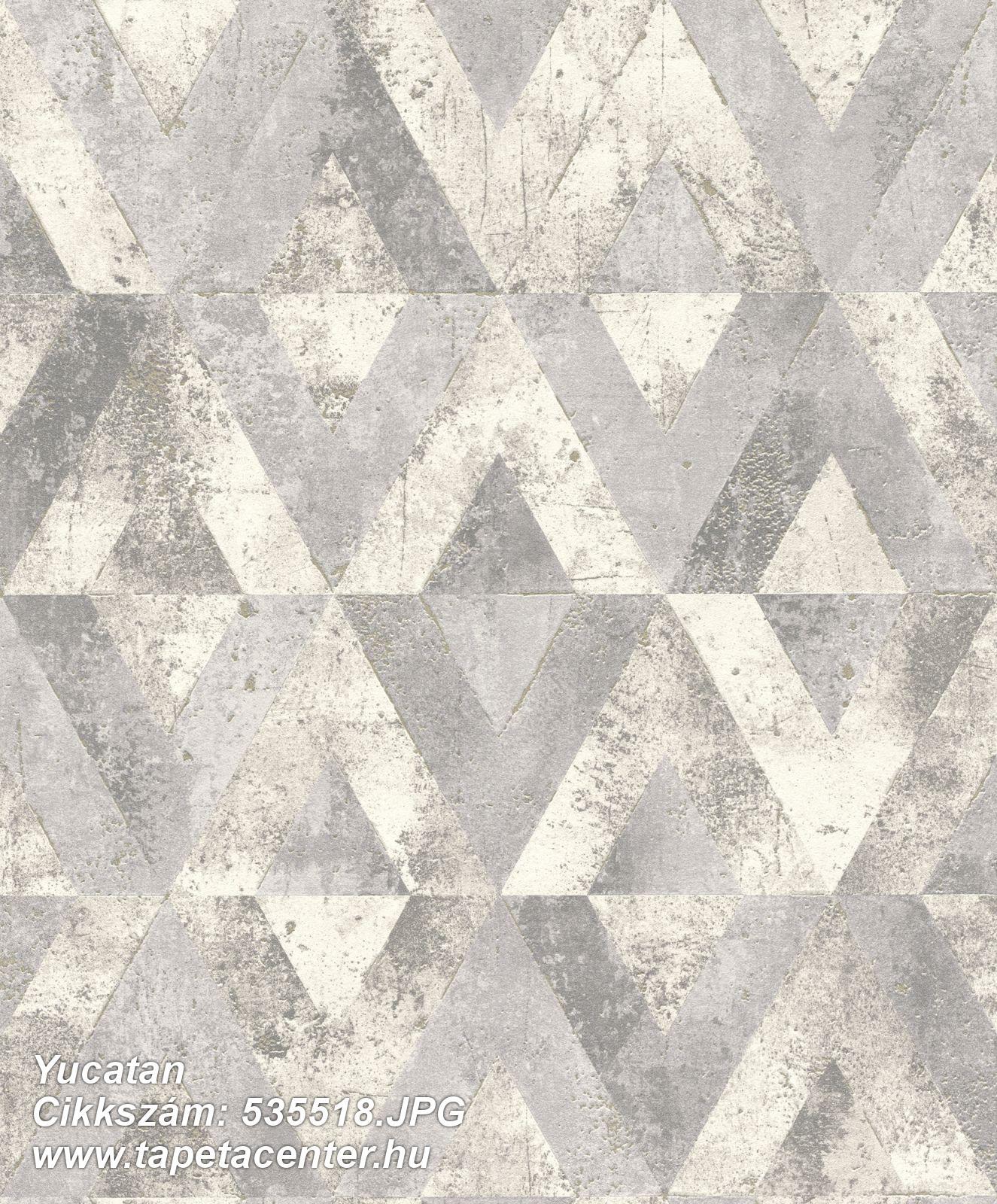 Absztrakt,geometriai mintás,fehér,szürke,lemosható,vlies tapéta