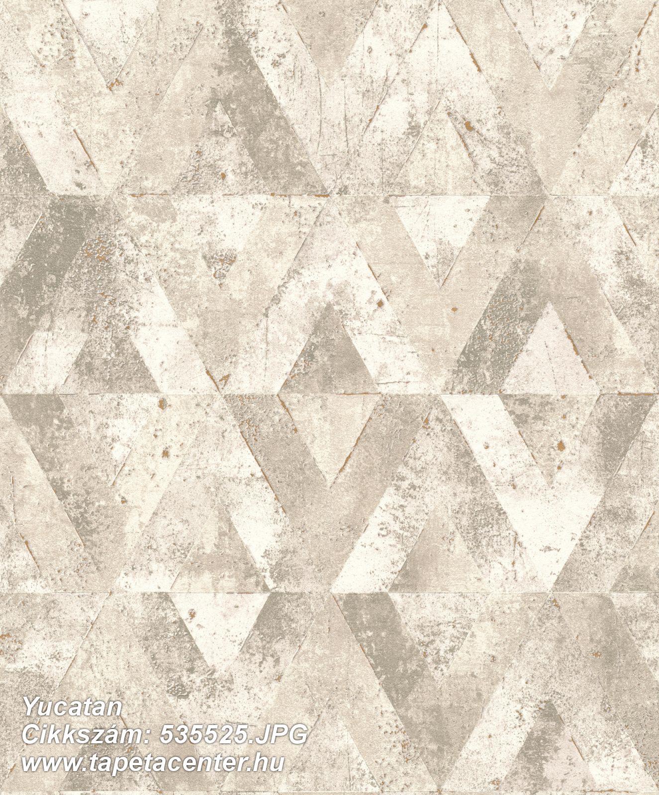 Absztrakt,geometriai mintás,bézs-drapp,fehér,lemosható,vlies tapéta