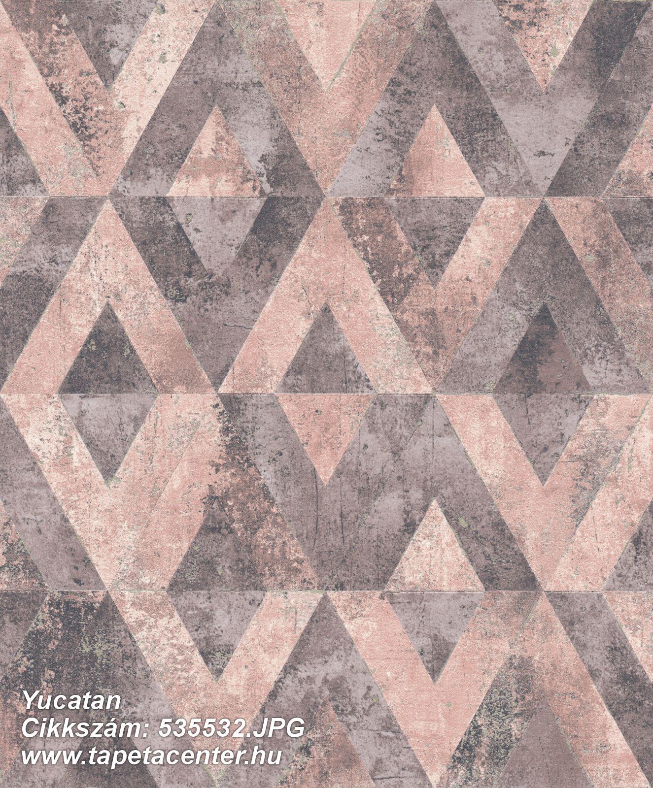 Absztrakt,geometriai mintás,lila,pink-rózsaszín,szürke,lemosható,vlies tapéta