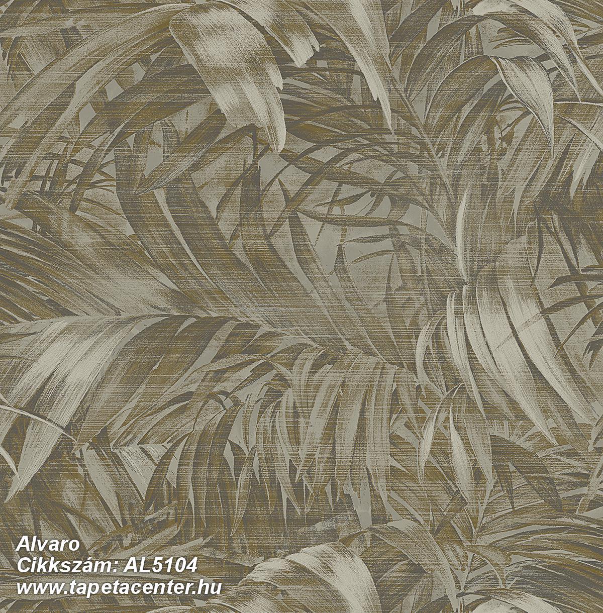 Különleges felületű,metál-fényes,természeti mintás,arany,barna,gyengén mosható,vlies tapéta