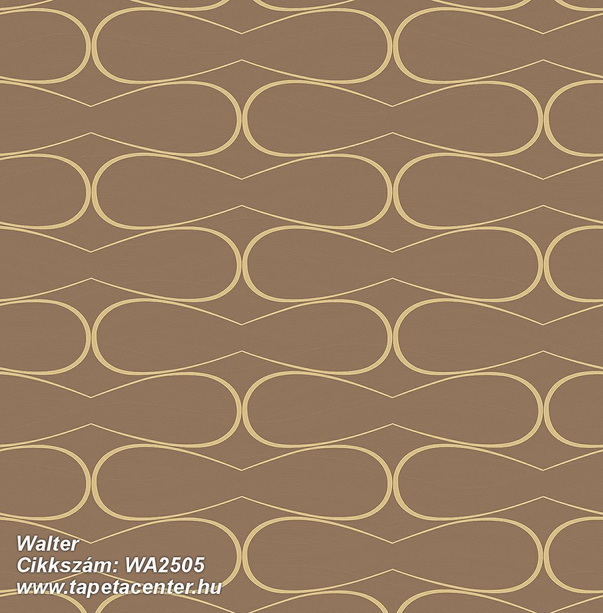 Absztrakt,dekor,geometriai mintás,különleges felületű,arany,barna,gyengén mosható,vlies tapéta